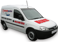 Image of a Combo Van, one of the fleet used by In A Flash Couriers
